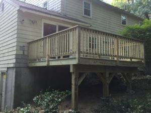 Budget pressure treated deck