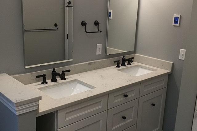 Double Sink Bath Remodel