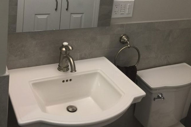 Bath Remodel with heated floor